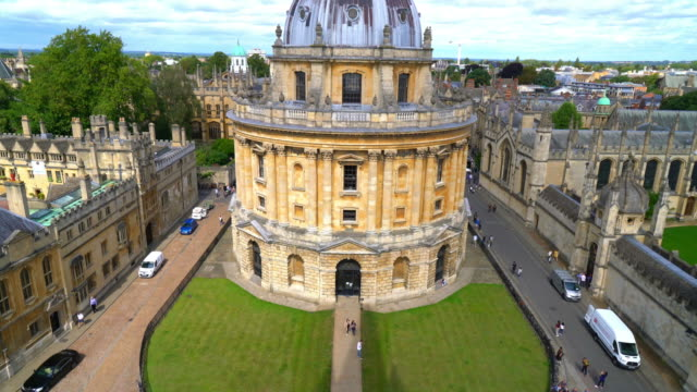 radcliffe camera and all souls college at oxford - radcliffe camera stock videos and b-roll footage