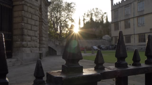 radcliffe camera reading library and sunset, oxford, oxfordshire, england, united kingdom, europe - radcliffe camera stock videos and b-roll footage