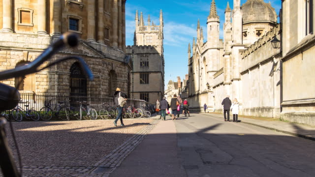 radcliffe square, oxford - timelapse - oxford england stock videos and b-roll footage