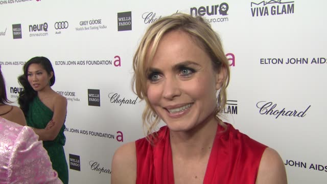 INTERVIEW Radha Mitchell at Elton John AIDS Foundation Presents 21st Annual Academy Awards Viewing Party 2/24/2013 in West Hollywood CA
