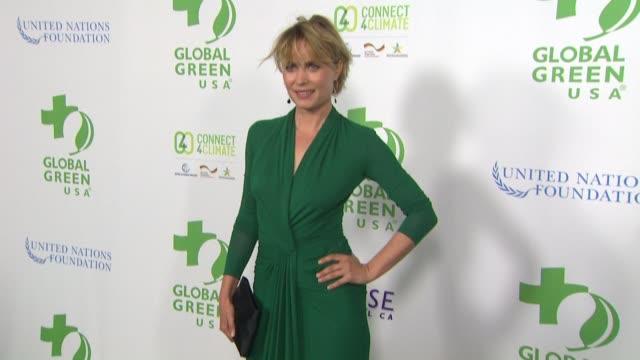 vídeos de stock, filmes e b-roll de radha mitchell at global green usa 13th annual preoscar® party in los angeles ca - global green usa