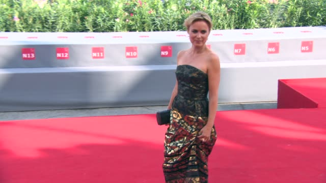 radha mitchell at looking for grace' red carpet 72nd venice film festival at palazzo del cinema on september 03 2015 in venice italy - anmut stock-videos und b-roll-filmmaterial