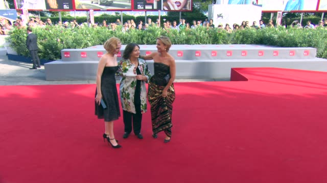 Radha Mitchell Odessa Young Sue Brooks at 'Looking for Grace' Red Carpet 72nd Venice Film Festival at Palazzo del Cinema on September 03 2015 in...