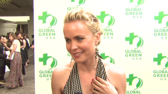 Radha Mitchell on being a part of the night what she appreciates about Global Green USA when she became a green advocate how others can live greener...