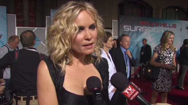 Radha Mitchell on her role in the film and on what attracted her to this film at the 'Surrogates' Premiere at Hollywood CA