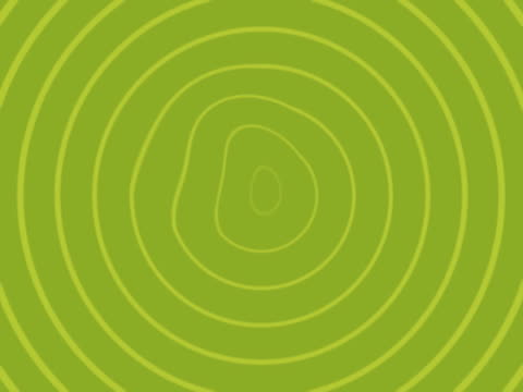 vidéos et rushes de radiating concentric circles, slightly warped - cercle concentrique