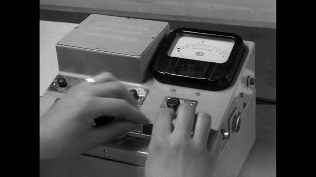 radiation level testing and checks in windscale power station; 1956 - radiation stock videos & royalty-free footage