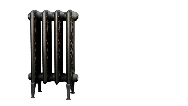 vídeos de stock, filmes e b-roll de radiator, aquecedor de virar - copy space