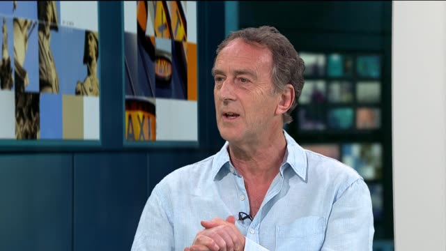 stockvideo's en b-roll-footage met 'radio active' comedy show to play at southbank festival angus deayton interview england london gir int angus deayton live studio interview sot - angus deayton