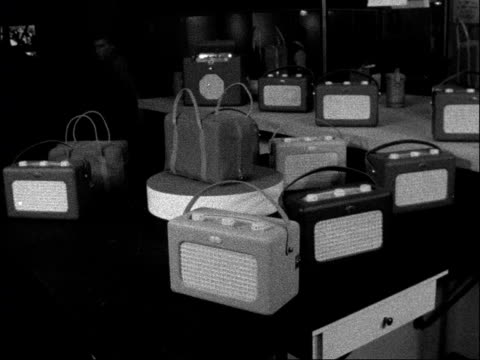 radio and tv exhibition in london shows off new trends england london earls court general view of stands at radio exhibition general view of the... - shoulder bag stock videos & royalty-free footage