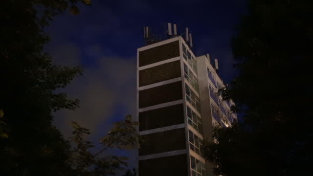 radio base station on top of an apartment - mast stock videos & royalty-free footage