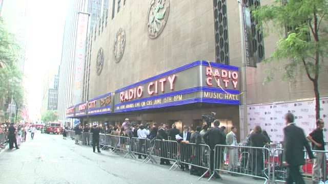 radio city music hall at the 62nd annual tony awards at new york ny. - radio city music hall stock videos & royalty-free footage