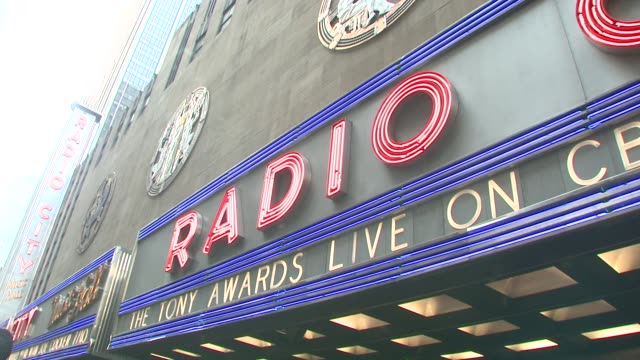 radio city music hall at the 62nd annual tony awards at new york ny - radio city music hall stock videos & royalty-free footage