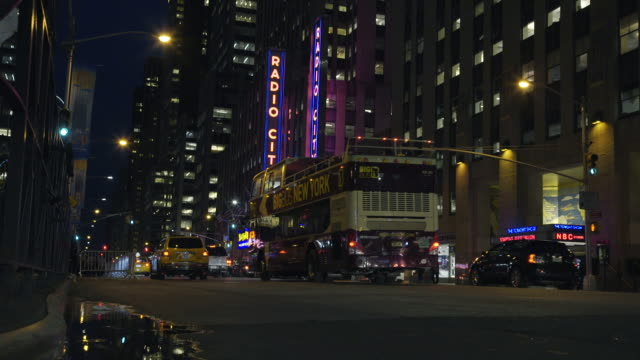 radio city music hall - dolly shot - radio city music hall stock videos and b-roll footage