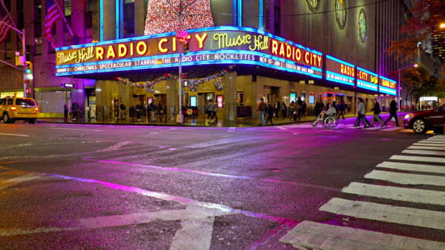 radio city music hall - radio city music hall stock videos & royalty-free footage