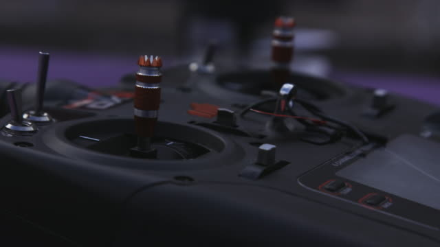 Radio Control joysticks, close-up
