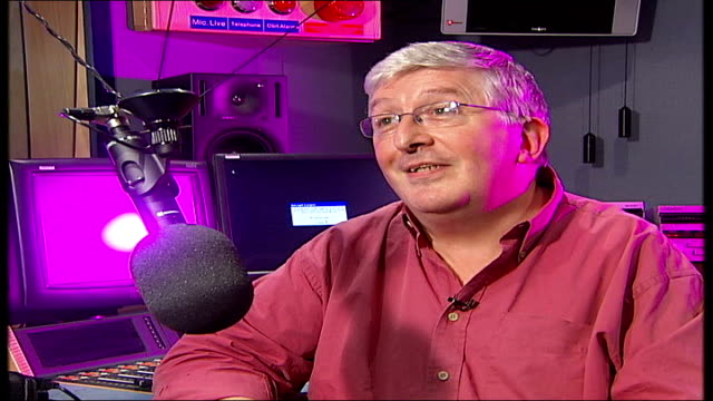 radio dj alan freeman dies aged 79 simon bates interview sot genesis is the classic one / phil collins even now should be speeding over for the... - phil collins stock videos & royalty-free footage