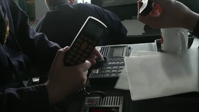 radio message onboard hms defender, from russia, threatening attack, due to dispute over territorial waters in the black sea off the coast of crimea - ominous stock videos & royalty-free footage