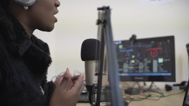 radio podcasting - radio studio stock videos & royalty-free footage