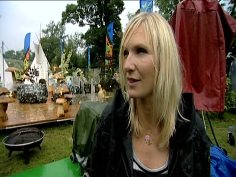 radio presenter jo whiley comments on affect singer michael jackson's sudden death will have on music festival glastonbury 26 june 2009 - michael jackson stock videos and b-roll footage