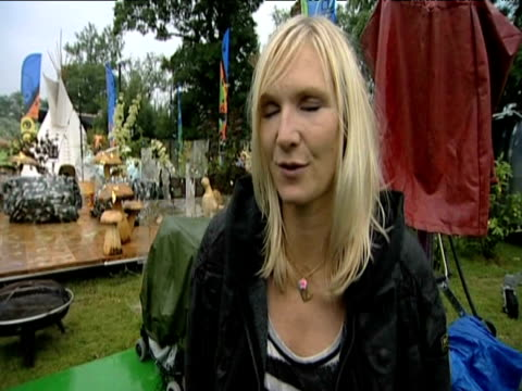 radio presenter jo whiley pays tribute to musical legacy of pop star michael jackson following his sudden death glastonbury 26 june 2009 - michael jackson stock videos and b-roll footage