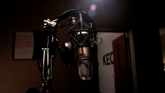 radio station microphone - radio studio stock videos & royalty-free footage