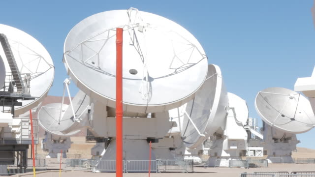 radio telescope antennas dishes moving - atacama large millimeter array stock videos and b-roll footage