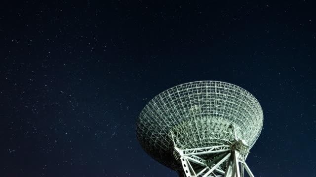 t/l pan radioteleskop observera vintergatan - stjärnfält bildbanksvideor och videomaterial från bakom kulisserna