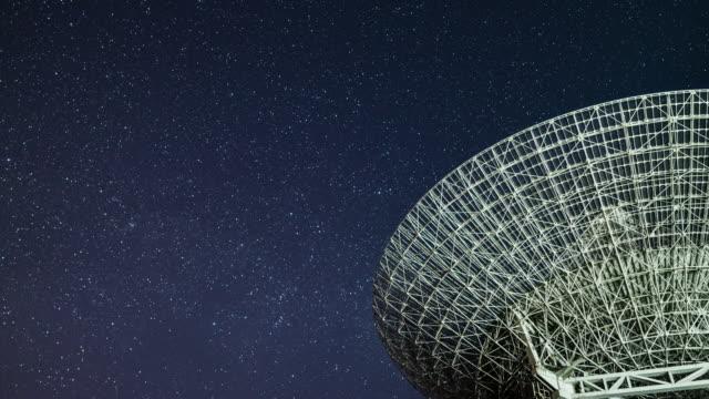t/l radioteleskop observera vintergatan - astronomiskt teleskop bildbanksvideor och videomaterial från bakom kulisserna