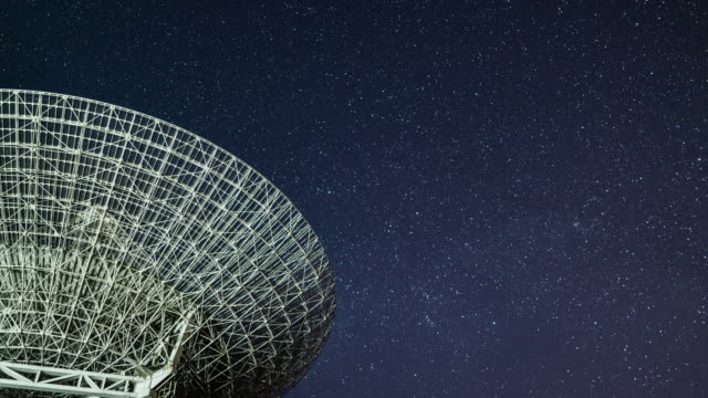 t/l radio telescope observing the sky at night - astronomical telescope stock videos & royalty-free footage