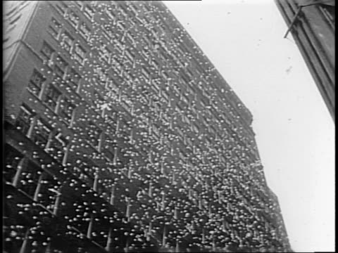 radio tower / japanese radio correspondent making an announcement / animated map of radio signals moving from japan / crowds rejoicing in street /... - japanese surrender stock videos & royalty-free footage