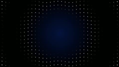 vídeos y material grabado en eventos de stock de 4k partículas de pantalla led de onda de radio. animación de luz de circuito. se puede repetir. - fondo colorido