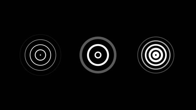 vídeos de stock, filmes e b-roll de ondas de rádio, vídeo um sinal de rádio. loopable. canal alfa. - onda radiofônica
