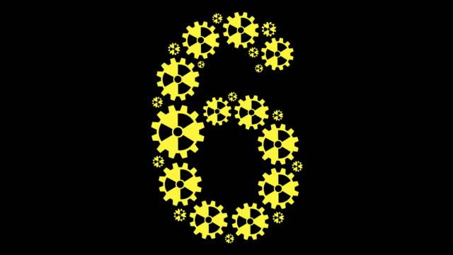 vidéos et rushes de radioactif numéro six - chiffre 6