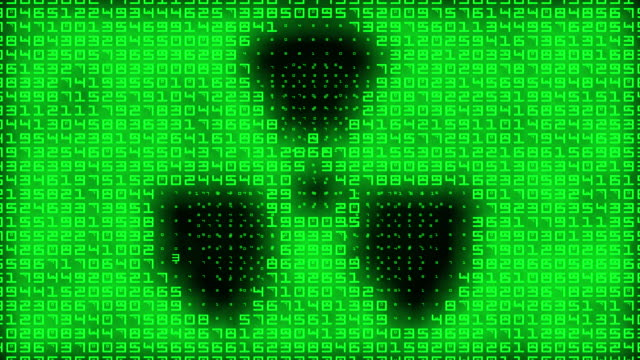 radioactivity symbol on binary background - nuclear power station stock videos & royalty-free footage