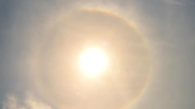 radius around the sun time lapse - halo stock videos and b-roll footage