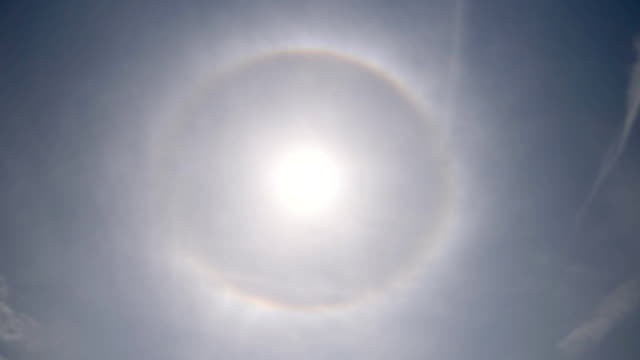 radius around the sun - light natural phenomenon stock videos & royalty-free footage