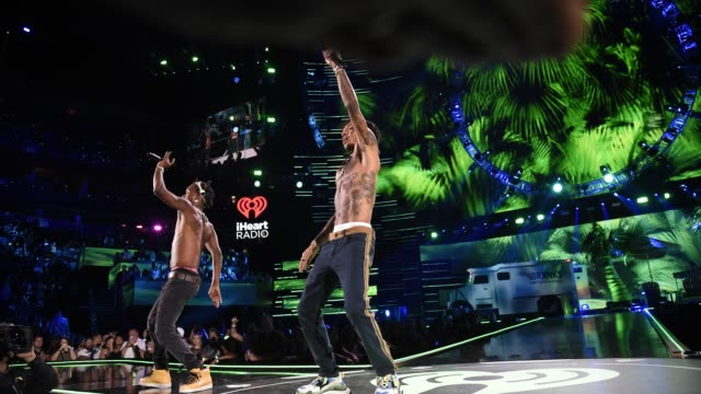 Rae Sremmurd performs onstage during the 2018 iHeartRadio Music Festival at TMobile Arena on September 21 2018 in Las Vegas Nevada