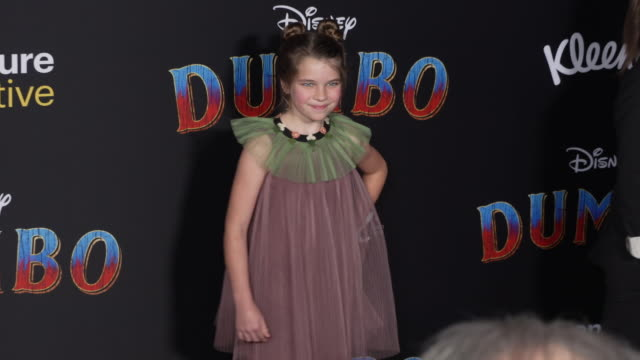 raegan revord at the dumbo world premiere at the el capitan theatre on march 11 2019 in hollywood california - premiere event stock videos & royalty-free footage