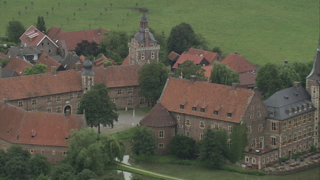 AERIAL Raesfeld castle, North Rhine-Westphalia, Germany