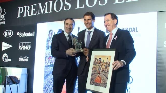 Rafa Nadal receives 'Los Leones' Awards 2017