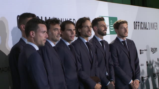 "rafael nadal attends davis cup dinner at the ""caja mágica"" in madrid - davis cup stock videos & royalty-free footage"