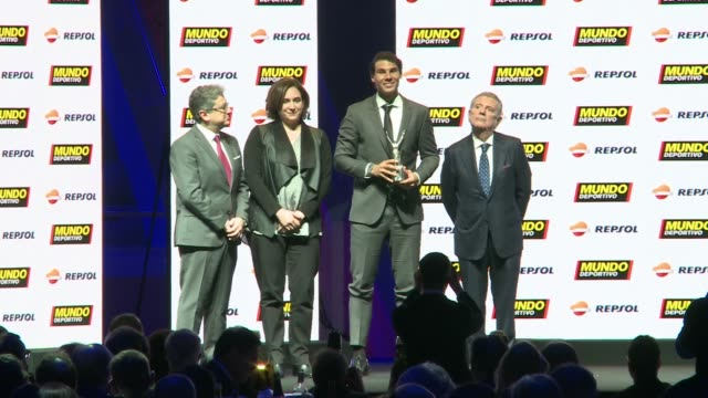 Rafael Nadal receives the best sportman of the year award during the 70th Mundo Deportivo Gala