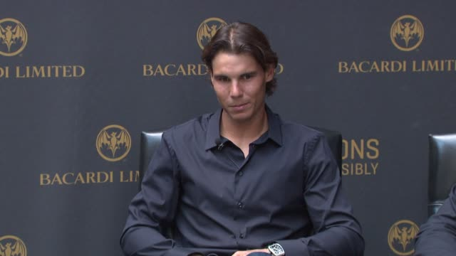 Rafael Nadal says he used to be really shy and is now interacting more with fans at the Bacardi Limited Celebrates Tennis Champion and Spokesperson...