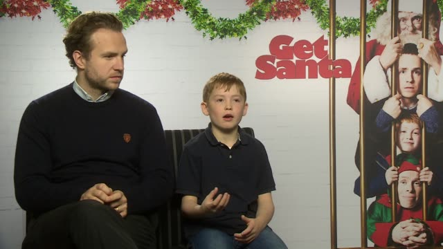 INTERVIEW Rafe Spall and Kit Connor on favourite Christmas movies and working with reindeer at 'Get Santa' Interviews at The Soho Hotel on November...