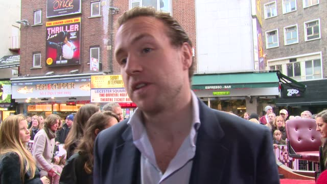 INTERVIEW Rafe Spall on Christmas traditional movies and his father at Get Santa World Premiere on 30th November 2014 in London England