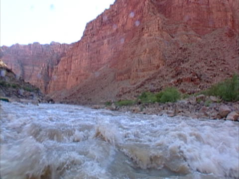 rafting down river rapids. - red rocks stock videos & royalty-free footage