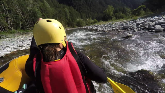 ms pov rafting down river - rafting stock videos and b-roll footage