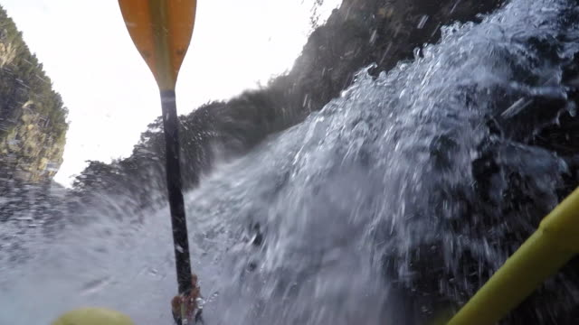 ms pov rafting down river - rapid stock videos & royalty-free footage