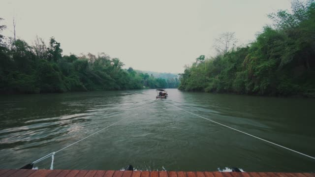 pov of rafting in kwai noi river of kanchanaburi - water sports equipment stock videos and b-roll footage